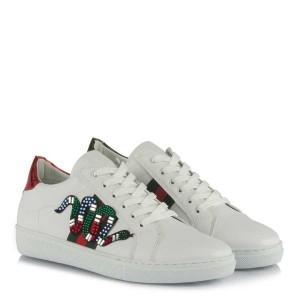 Spor Ayakkabı Beyaz Renkli Tokalı