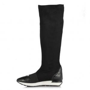 Spor Çizme Modelleri Düz Siyah