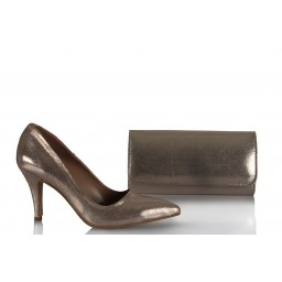 Золотисто-блестящие Туфли Сумка