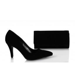 Замшевые Черные Туфли Сумка