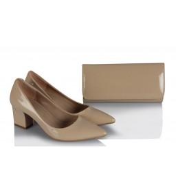 Stiletto Ayakkabı Çanta Ten Rengi