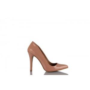 Stiletto Ayakkabı Somon Rugan