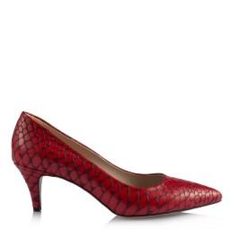 Stiletto Az Topuklu Kırmızı Crocodile