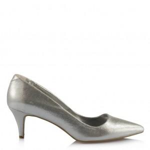 Stiletto Az Topuklu Lame Rengi Ayakkabı Modeli