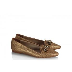 Stiletto Babet Ayakkabı Şampanya Taşlı