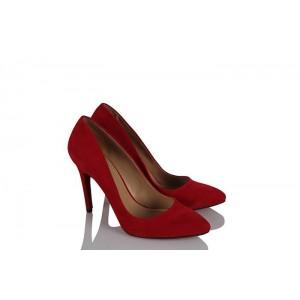 Stiletto Kırmızı Süet Model