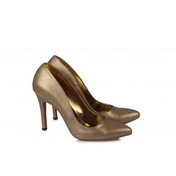 Золотистые Матовые Туфли