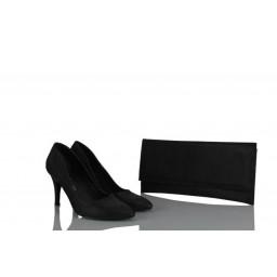 Блестящие Черные Туфли С Сумкой