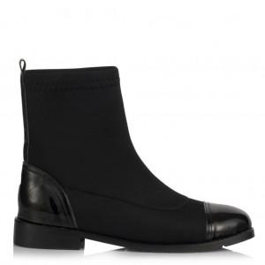 Streç Çorap Bot Düz Siyah