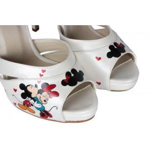 Tasarım El Boyaması Gelin Ayakkabısı