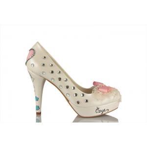 Taşlı Fiyonk Tasarım Gelin Ayakkabısı