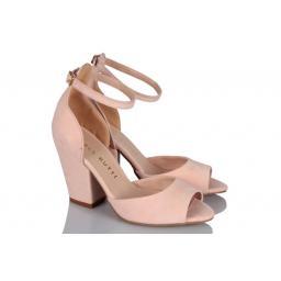 Topuklu Ayakkabı Pudra Süet