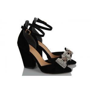 Topuklu Ayakkabı Siyah Tokalı