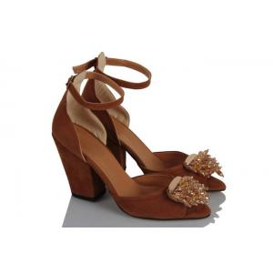 Topuklu Ayakkabı Taba Tokalı