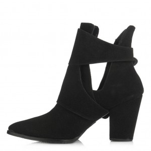 Topuklu Bot Siyah Kemerli Tarz Model