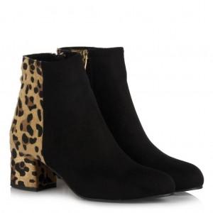 Topuklu Bot Siyah Leopar