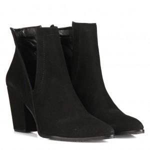 Topuklu Bot Siyah Yanı Açık Tarz Model