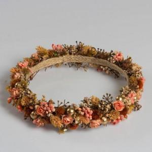 Turuncu Kuru Çiçekler Taç