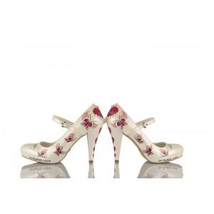 Uçan Kelebekler Tasarım Gelinlik Ayakkabısı