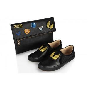 Vans Ayakkabı Siyah Armalı  Clutch Çanta Takım