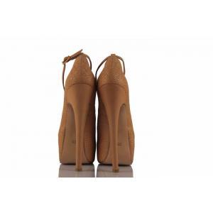 Vizon Crocodil Gizli Platform Bayan Ayakkabı