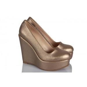 Vizon Dolgu Topuk Ayakkabı