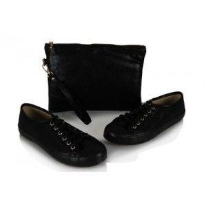 Vans Ayakkabı Siyah Clutch Çanta Takım